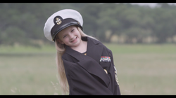 Ellie in sailor outfit