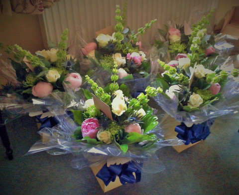 Wedding Party 'Thank You' Bouquets