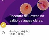 (realizado)  ENCONTRO DE JOVENS - 01/Jul