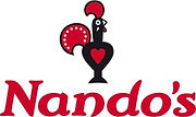 Logo Nando's. Happy clients on their Nando's group activity in Malaga. Team building, sights & activities. www.malagacityadventure.com/city-trip-team-buidling-activities