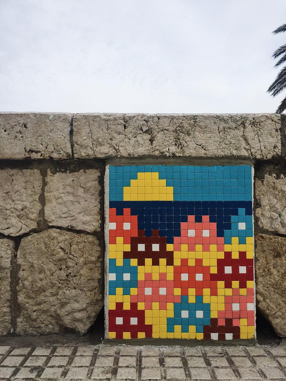Malaga streetart holidays Malagueta Beach