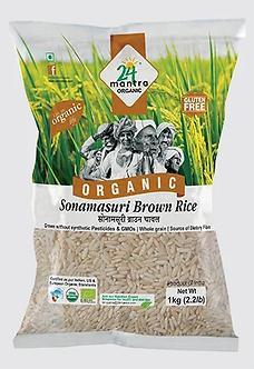 SONAMASURI RAW RICE BROWN (24 MANTRA ORGANIC RICE)