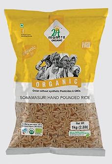 SONAMASURI RAW RICE HAND POUNDED (24 MANTRA ORGANIC RICE)