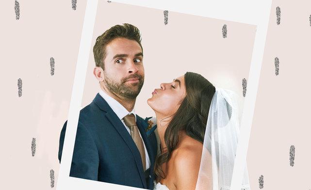 Brautpaar in Fotobox