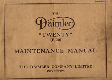 """Twenty"" Maintenance Manual, dated 11/38"