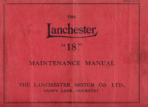 Lanchester 18 Maintenance Manual dated 2