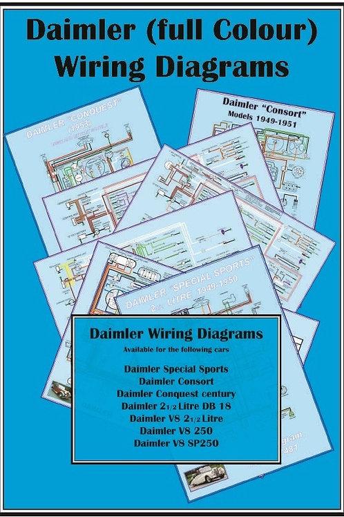 Wall Poster Wiring Diagrams  V8  2 U00bd Saloons  Sp250  Db18