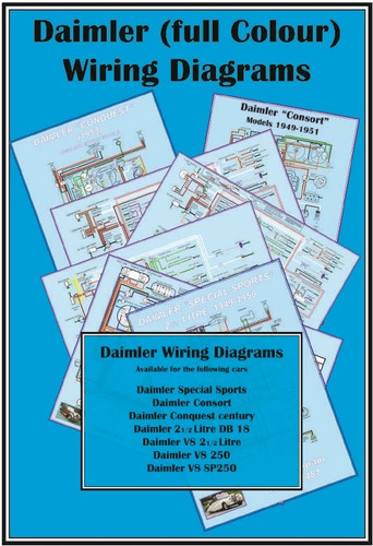 Wall Poster Wiring Diagrams  V8  2 U00bd Saloons  Sp250  Db18 Range  Conquest