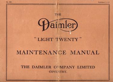 "Later ""Light Twenty"" Maintenance Manual, dated 1/1/37"