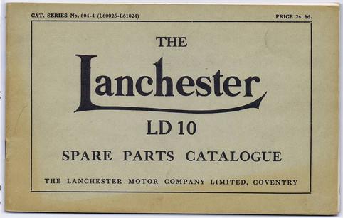 LD10 Parts catalogue 604-4  L60025 - L61