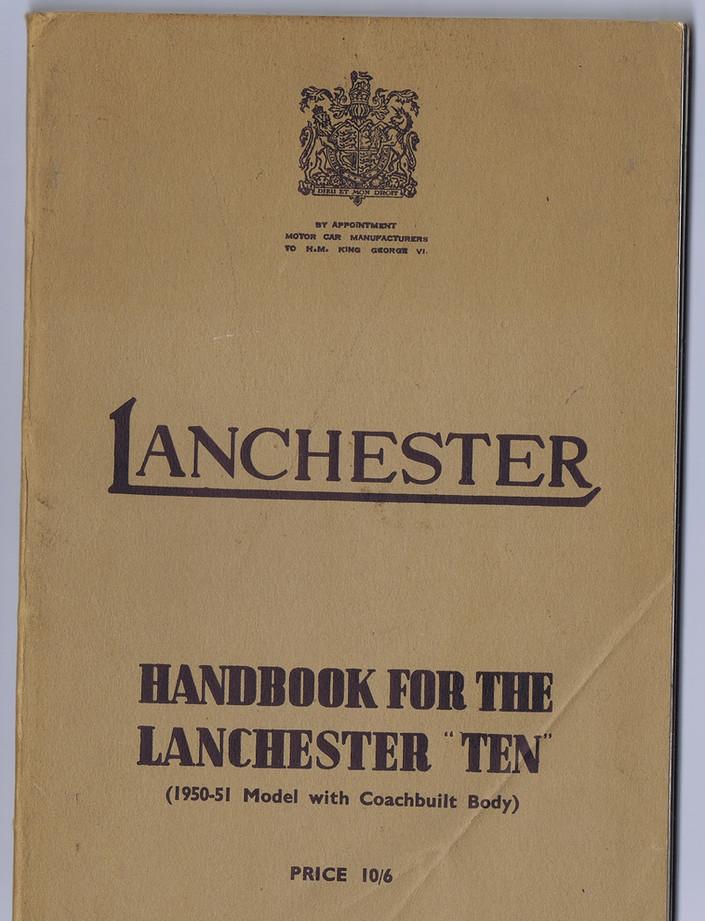 LD10 Handbook 1950-51 Model with Coach b
