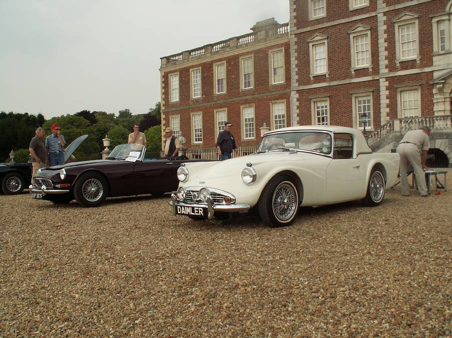 David Nancekievill's SP250 prepared as the 1959 Earls Court Motor Show exhibit (The SP252 behind) at Wimpole Hall, Cambridgeshire, England, 2007