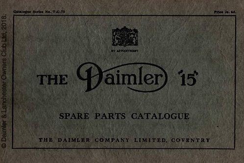 Daimler 15 Parts List TC75 PDF