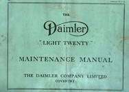 "Early ""Light Twenty"" Maintenance Manual, dated 30/11/35"