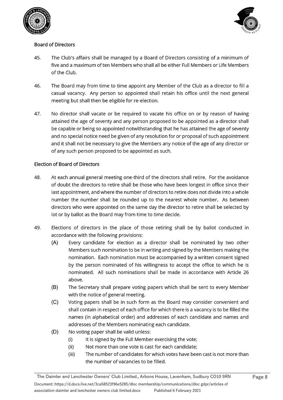 Articles of Association-Daimler and Lanc