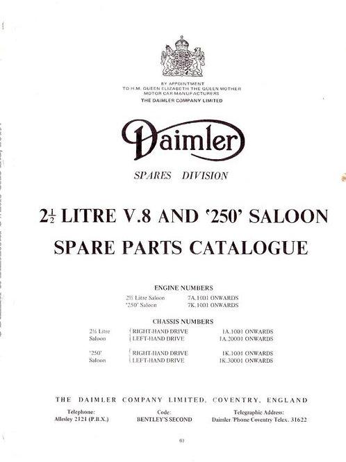 Daimler V8 2.5 litre Saloon and V8 250 Spare Parts Catalogue 1963_1969 D4 196905