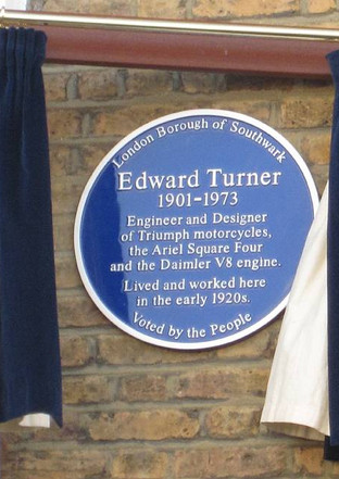 """Unveiling of the """"Blue Plaque"""" commemorating Edward Turner, Phillip Walk (previously Phillip Road), Peckham Rye, London"""