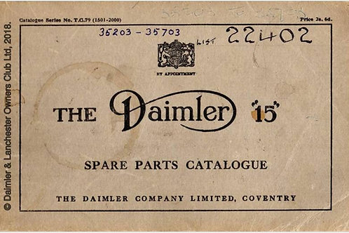 Daimler 15 Parts List TC79