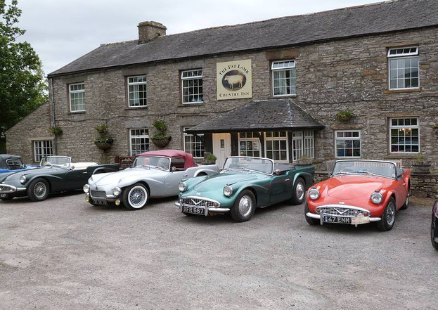"""Break at """"The Fat Lamb"""" in the Lake District en route from the DLOC International Rally at Peebles, Scotland to the SP250 60th Anniversary Celebrations at Solihull and Ragley Hall Warwickshire, U.K. June 2019"""