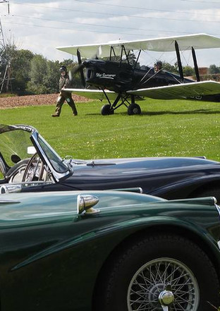 Preparing for SPDay 2014, co-inciding with a Tiger Moth Fly-in at Woburn Abbey, Bedfordshire, England 2014
