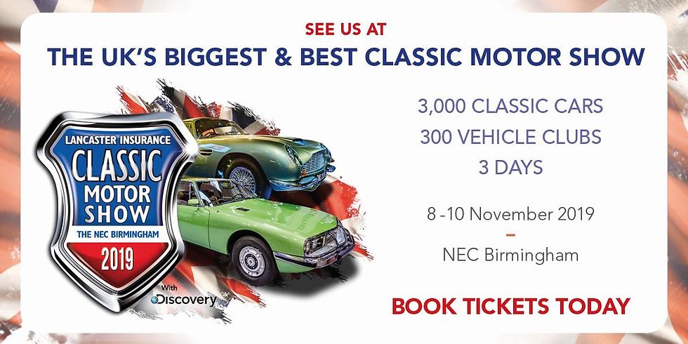 NEC Classic Car Show 8,9,10 November 2019