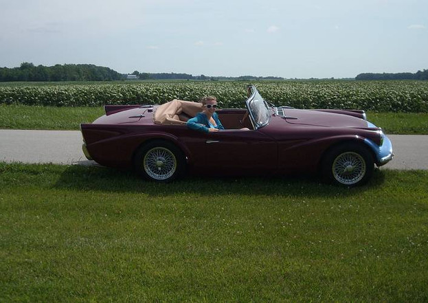 Crops and car, Indiana 2009