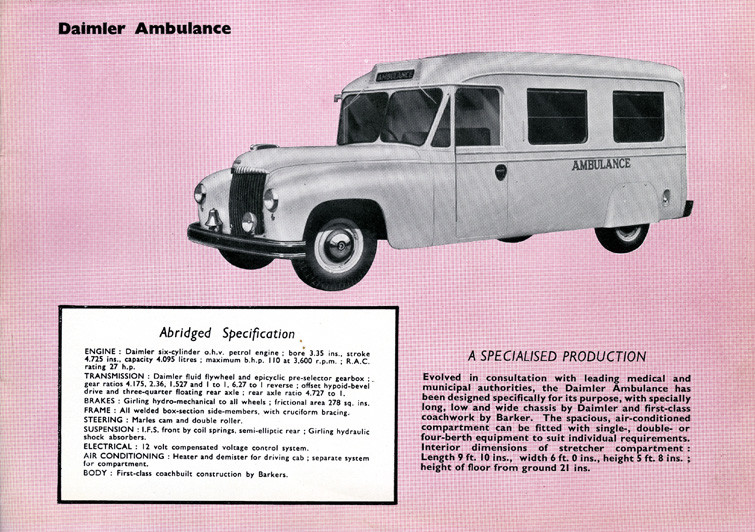 Daimler ambulance Technical Specificatio