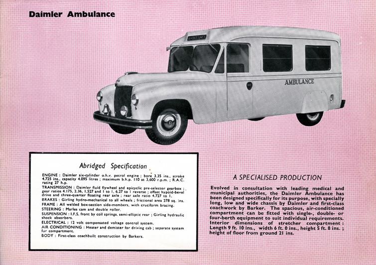 Daimler ambulance Technical Specificatio