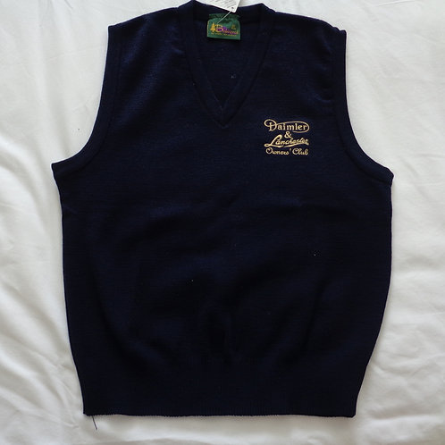 DLOC Sleeveless Pullover, Dark Blue with Embroidered logo