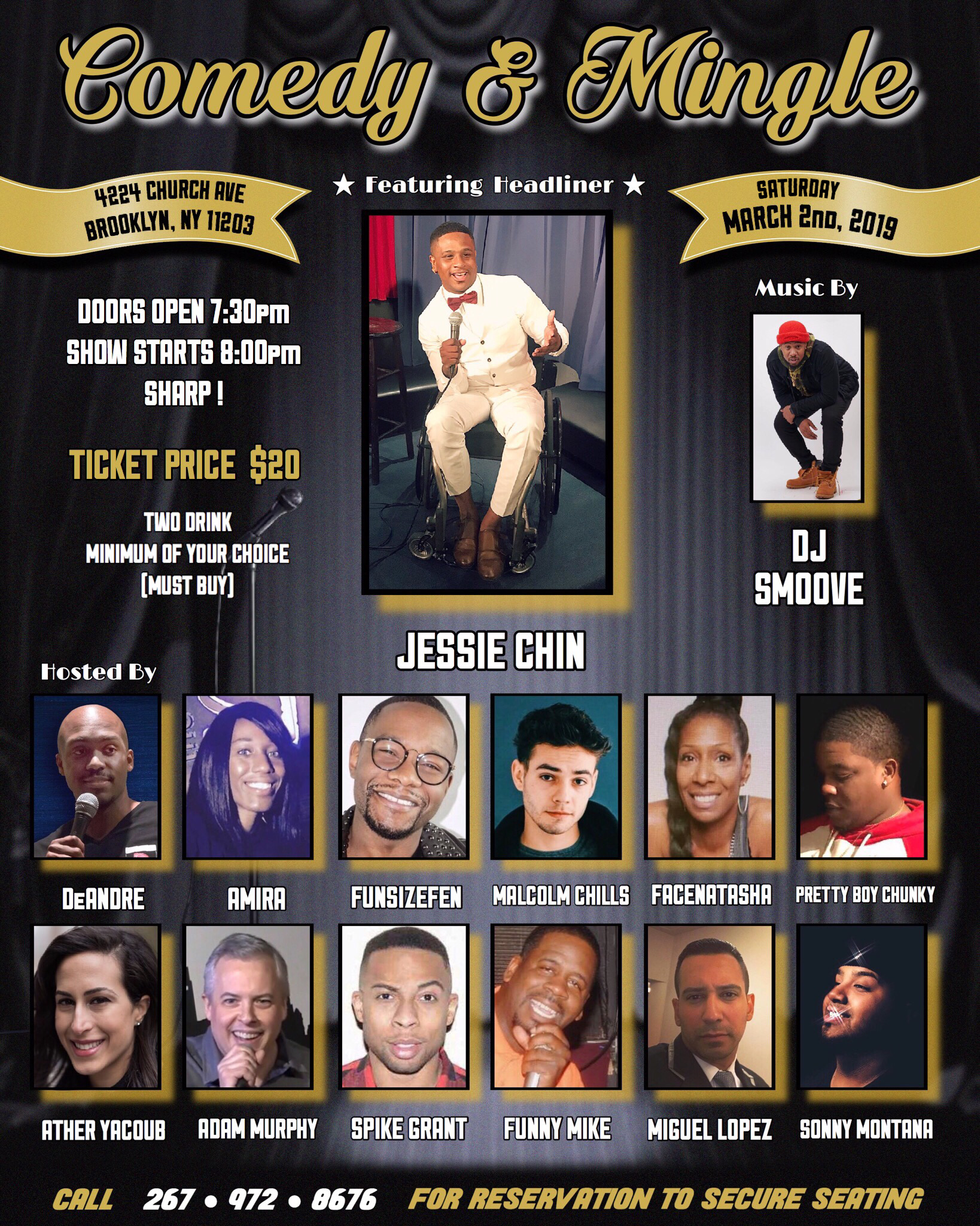 COMEDY & MINGLE FLYER