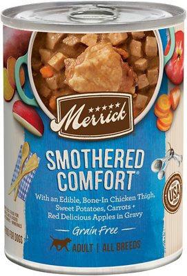 Merrick Grain Free Wet Dog Food Smothered Comfort, 12.7-oz can