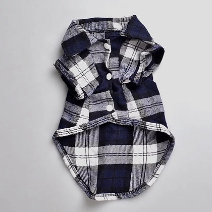 Plaid Pet Dog Shirt for Small Dogs
