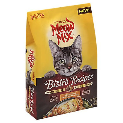 Meow Mix Bistro Recipes Cat Food Rotisserie Chicken Flavor