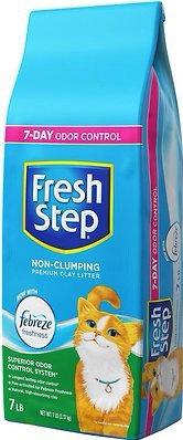 Fresh Step Febreze Scented Non-Clumping Clay Cat Litter, 7-lb bag