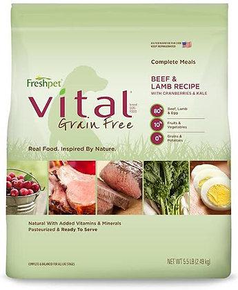 Freshpet Vital Grain Free Beef / Lamb Dog - 5.5 lb FRESHPET