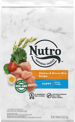 Nutro Natural Choice Puppy Chicken & Brown Rice Recipe Dry Dog Food, 5-lb bag