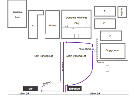 STUDENT DROP-OFF AND PICK-UP ZONE