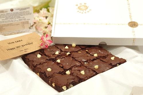 White Chocolate Chunk Brownie Box of 12