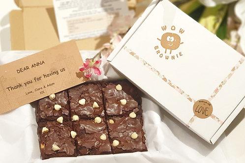 White Chocolate Chunk Brownie Box of 6