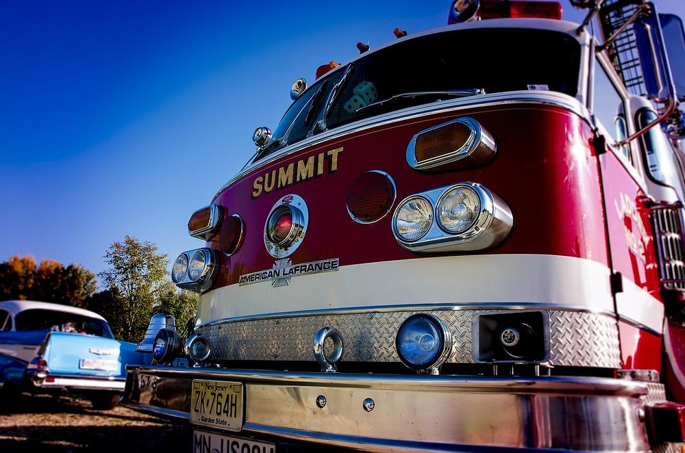 消防車両の位置を消防団員と共有