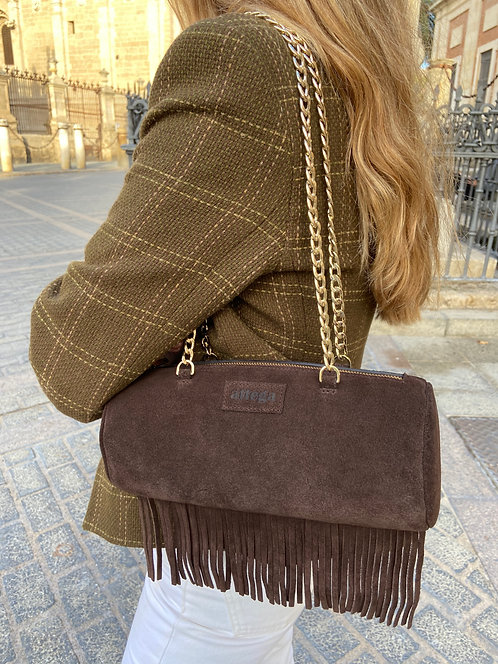 Gab Suede Dark Brown Fringes