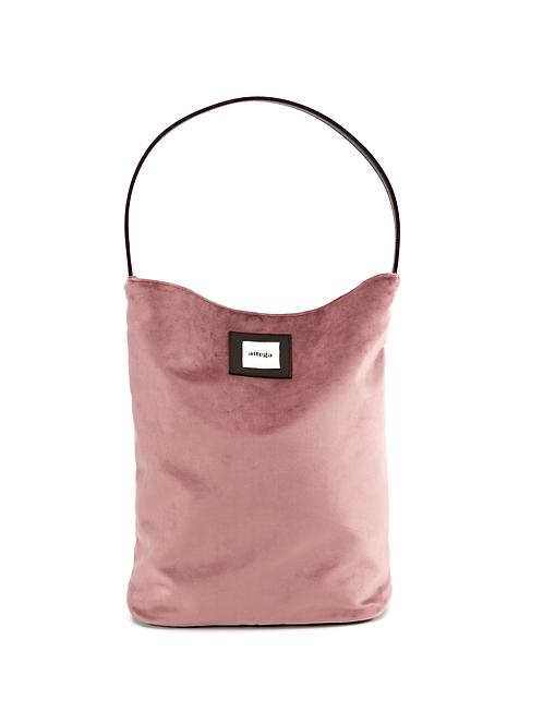 Bucket Bag Velvet Pink