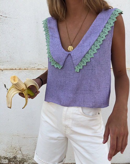Cassis Lilac Top