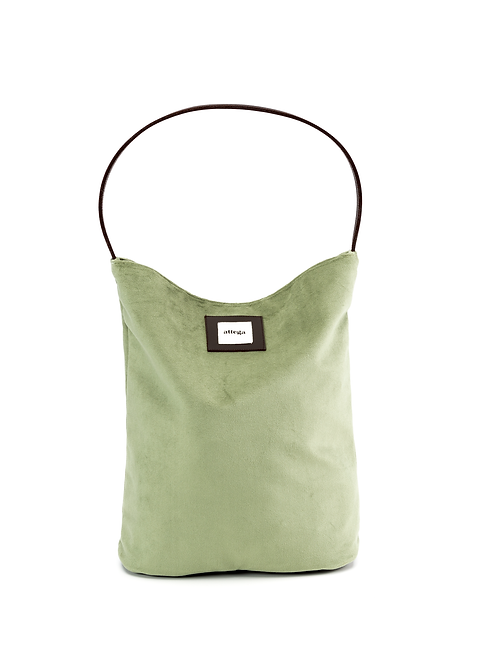 Bucket Bag Velvet Green