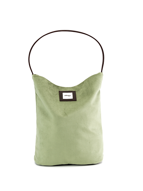 Bucket Bag Velvet Green