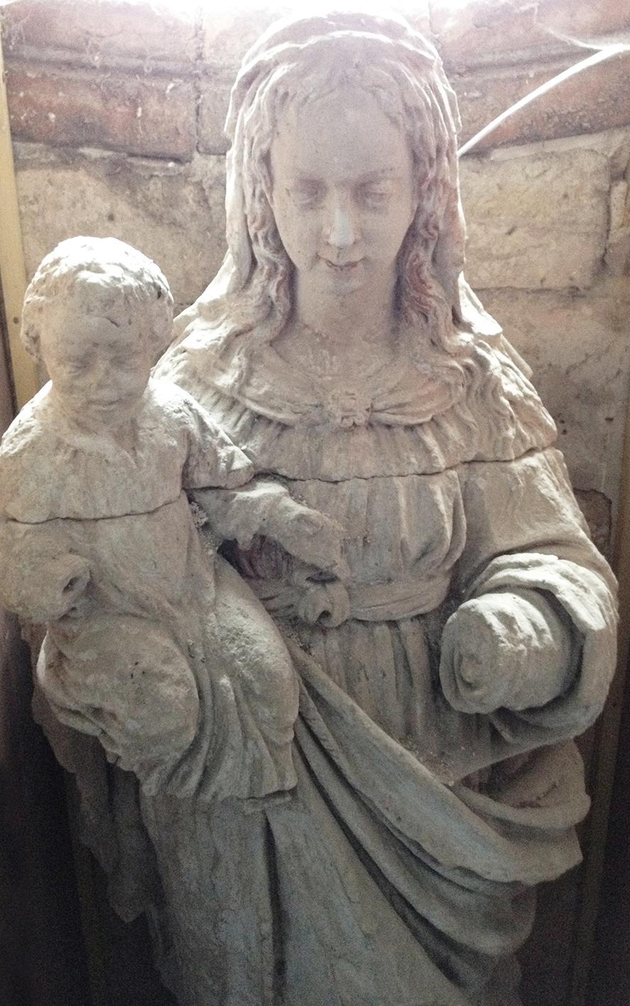 Vierge avant restauration
