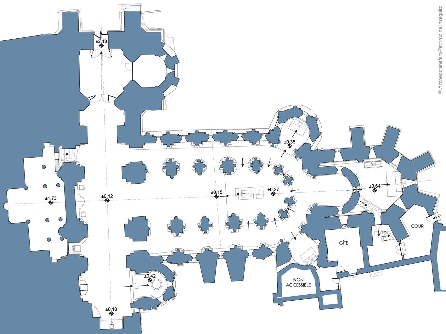 plan de la crypte