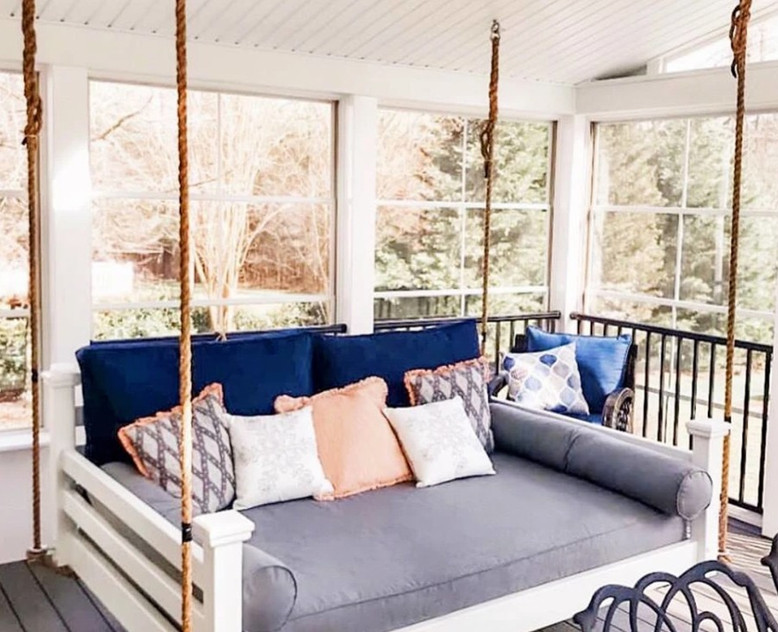 Porch & Sunroom Relaxing: Knit-Backing & Sun Protection