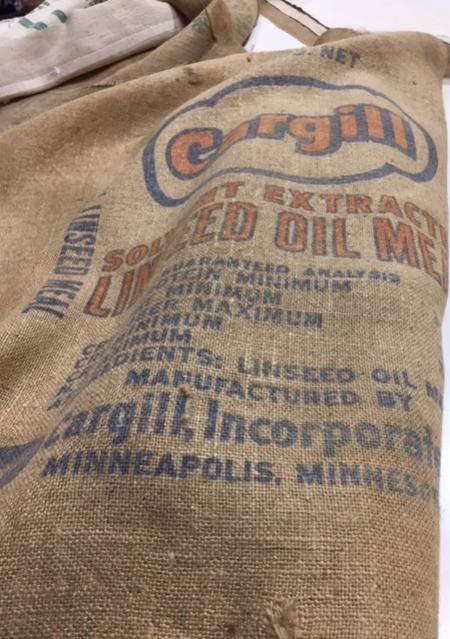 Jute Vintage Linseed Meal Bag