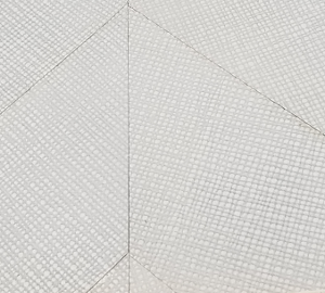 White Leather Tiles in a Mosaic Pattern for Wallcovering